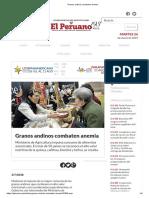 Granos Andinos Combaten Anemia