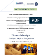 Appel c3a3c2a0 Com Colloque Finance Islamique Cifima2013