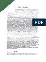 Nike's History