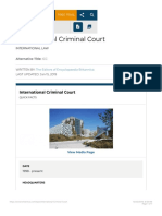 International Criminal Court International Law Britannicacom