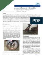 579fd9361d11b2cec280a4651595dc0f.design and Fabrication of Regenerative Electric Bike