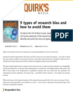 9 types of research bias and how to avoid them | Articles | Quirks.com