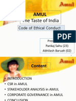 Amul Code of Conduct