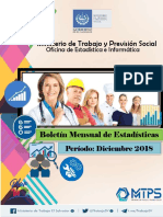 Mtps Informe Estadistico Diciembre 2018
