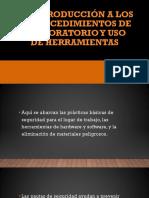 Introducción a Los Procedimientos de Laboratorio y Uso