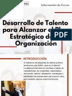 Curso Desarrollo de Talento para Alcanzar el Plan Estratégico de la Organización