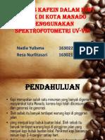 Analisis Kafein Dalam Kopi Bubuk Di Kota Manado