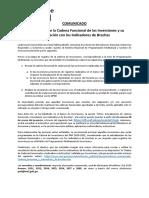 Comunicado Actualizacion Cadena Funcional y Vinculacion Indicadores