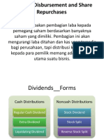 Dividend Disbursement and Share Repurchases