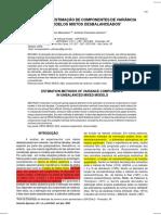 Marcelino; Lemma, 2000. Métodos de Estimação de Componentes de Variância Em Modelos Mistos Desbalanceados