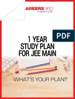 1 Year Study Plan for IIT JEE Main