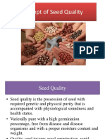 Lec.2 Seed Quality, Deterioration of Crop Var, Genetic Purity Maintanence in Seed Production