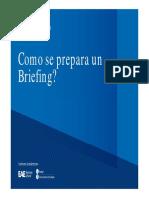 como se prepara un briefing