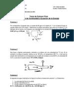Tarea 3 Ecuacion de Continuidad Ecuacion de Bernoulli y Cantidad de Movimiento 2015