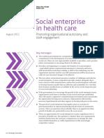2011 Social Enterprise in Health Care Kings Fund Report August 2011