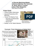 Integration of Discrete Machining Models Into an Open-Architecture Machine Tool Controller