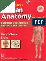 Chaurasia's Human Anatomy Head, Neck and Brain, 6e - Bhagwan Din Chaurasia.pdf
