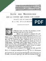 d'Alembert, J. - Suite Des Recherches Sur La Courbe Que Forme Une Corde Tendue Mine en Vibration