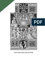 15 letanías de los santos