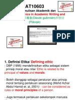 Etika Dan Plagiarisme