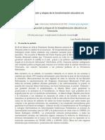 Calidad de la educación y etapas de la transformación educativa en Venezuela.docx