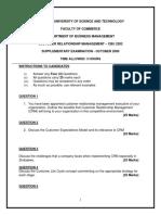 CBU2202200910 Customer Relationship Manangement