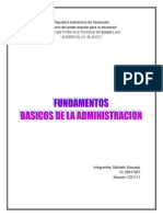 Fundamentos Basicos de La Administracion