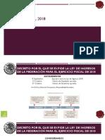 Reforma Fiscal 2018 Ley de Ingresos Cima