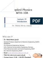 AP-MTH108 Theory Lecture 1