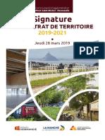 contrat de territoire (2019-2021) entre la CAMSMN, le département de la Manche et la région Normandie - jeudi 28 mars 2019