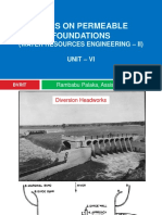 Wier on Permeable Foundation