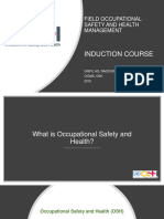 Field Occupational Safety and Health Management Induction
