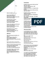Lourdes 2015 Hymns.docx