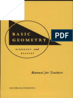 George David Birkhoff, Ralph Beatley - Basic Geometry - Manual for Teachers (2000, American Mathematical Society).pdf