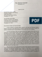 3/29 Letter from Attorney General William Barr to Congress