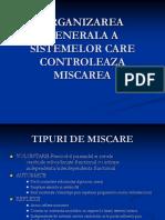 Organizarea Generala a Sistemelor Care Controleaza Miscarea