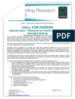 Arj Callforpapers Aasb Special Issue