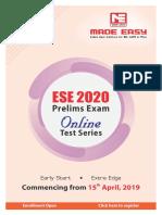 510imguf ESE 2020Pre Online TestSeriesSchedule