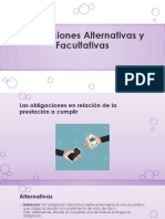 Obligaciones Alternativas y Falcultativas
