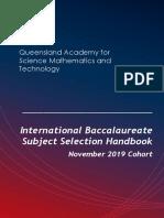 IB Diploma November 2019 Subject Selection Guide