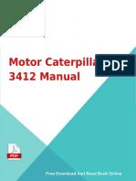Motor Caterpillar 3412 Manual