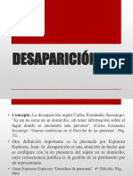 DESAPARICIÓN (1 en el marco del codigoo civil peruano