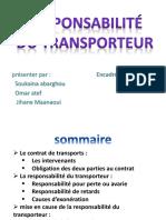 Responsabilité Du Transporteurikbal