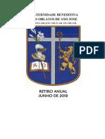 Programação e Ofício Do Retiro 2018 FBOSJ