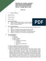 Watertown City School District BOE agenda April 2, 2019