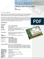 2.45GHz 802.11a+b+g Wireless Mini-PCI Card (R52)