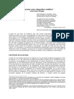 PDF La escuela como dispositivo estético