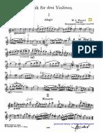 Mozart Trio for three violins