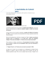 10 Personajes Inolvidables de Gabriel García Márquez