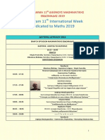 Πρόγραμμα Μαθηματικής Εβδομάδας 2019